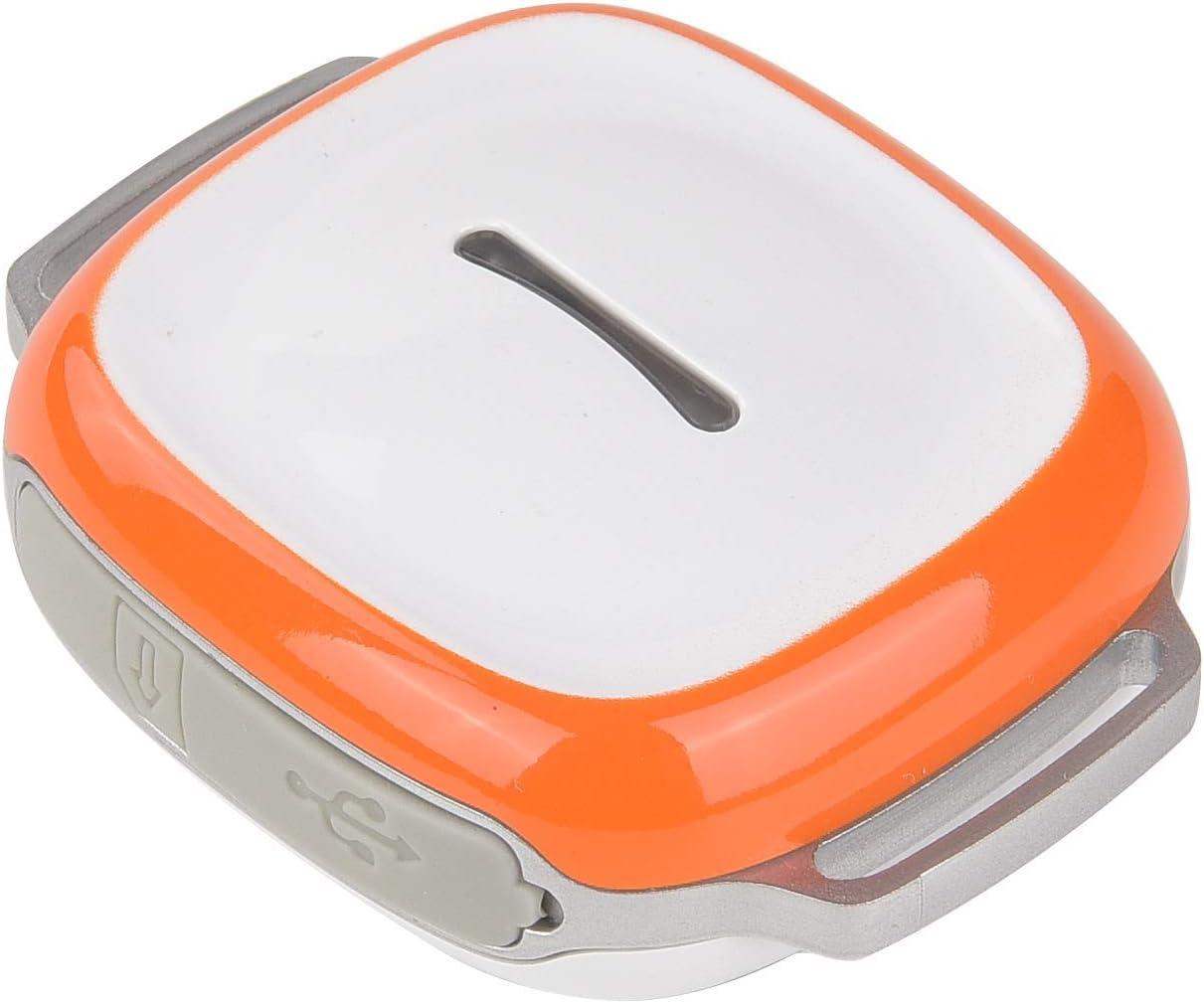 Mini GPS Localizador de Mascotas Rastreador para Perros Gatos Ganado, Anti-pérdida Anti-Theft Anti-Fall Rastreador GPS con Collar Alarma inalámbrica de batería Baja Llamadas remotas,Naranja