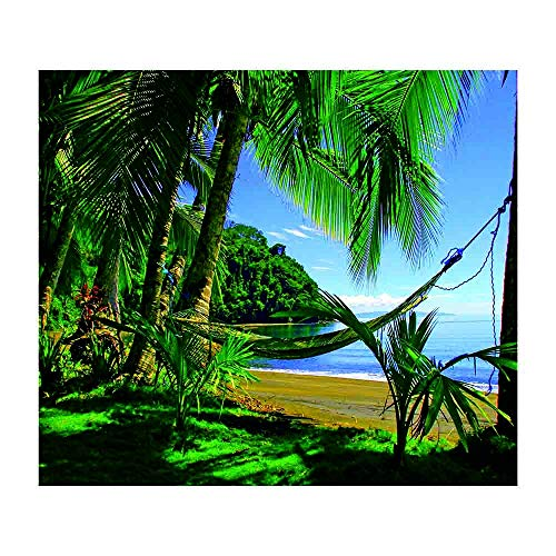 Loneflash Beach Tapestry, Beach Waterfall Hanging Wall Tapestry Throw Roundie Mandala Towel Yoga Mat Featur Beach Bedding Picnic Blanket Beach Sheet