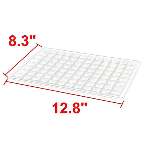 Amazon.com: DealMux 96 Grooves design claro plástico branco Ice Tray Pan Mold para geladeira: Kitchen & Dining