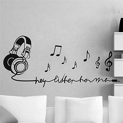 Amazon.com: briend Room Wall Stickers Quotes Listen Music ...