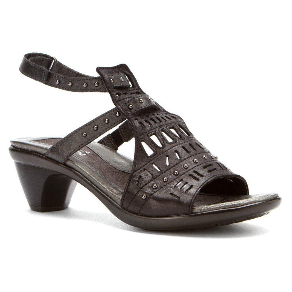 NAOT Vogue Avantgarde Women Sandals B01MG2VUQ6 36 M EU|Brushed Black/Metallic Rd Lthr