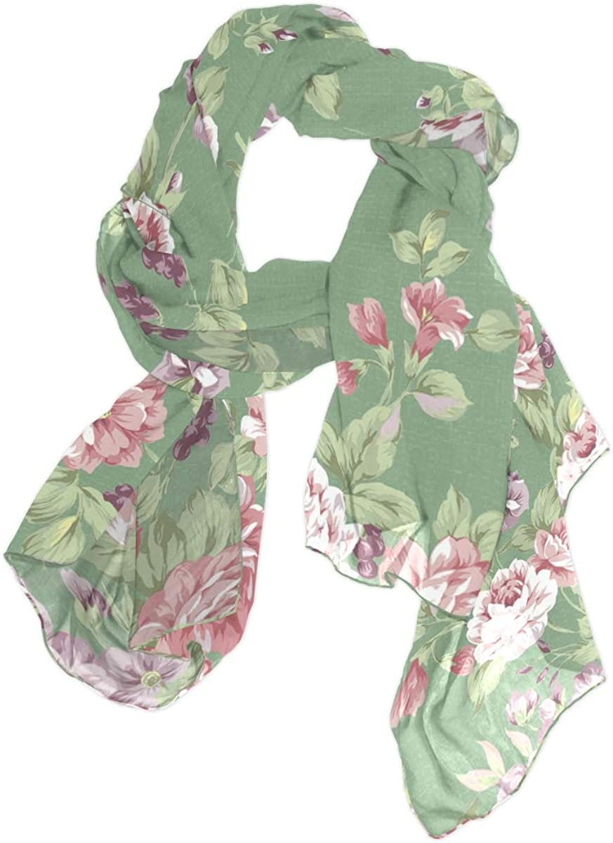 Long Scarf EELa Scrves Women Polyester Lightweight Soft Printed Floral Fashion Wrap Shawl Spring Winter 70x35 inches
