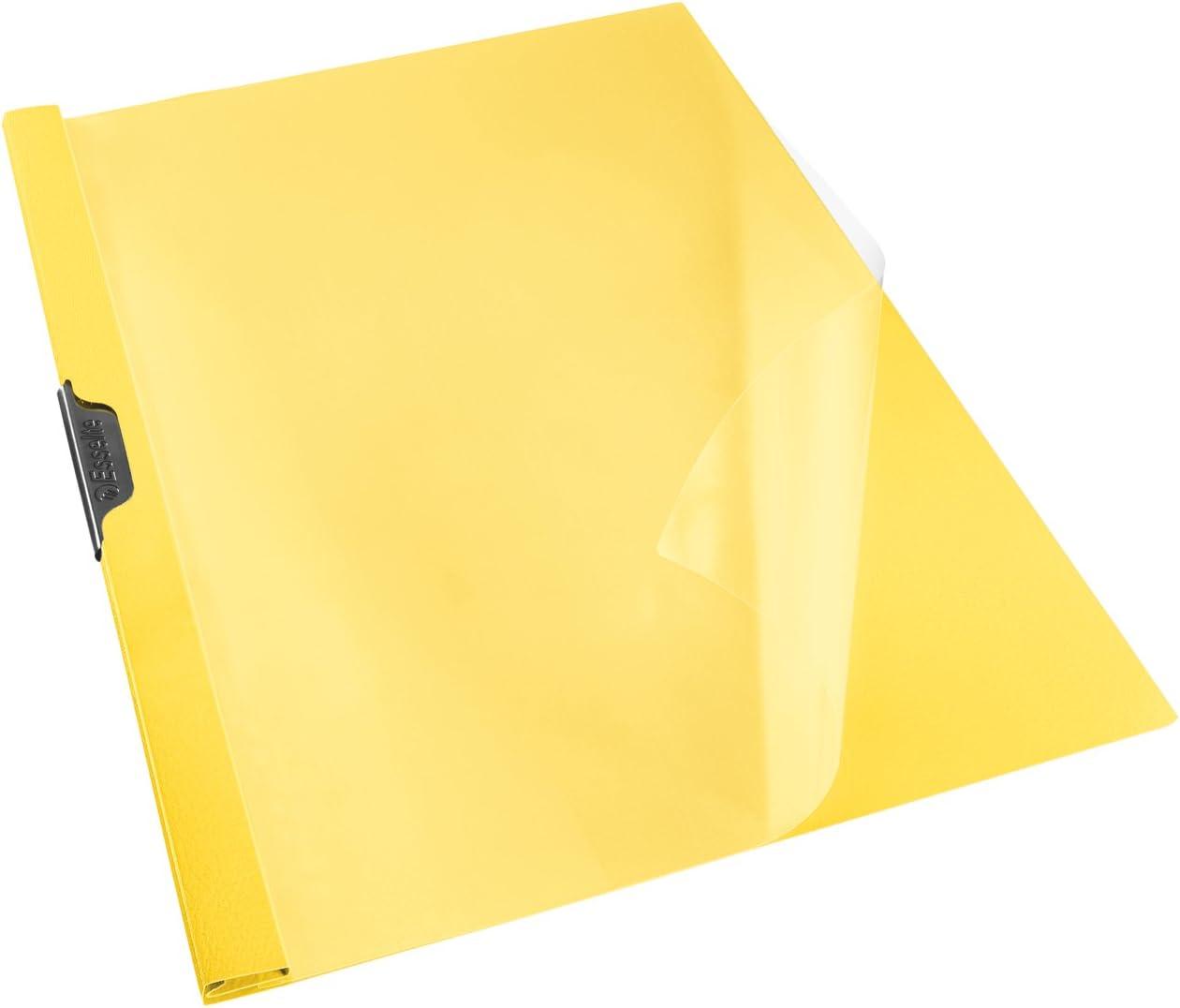 Esselte Vivida Set di 25/cartelline con clip in polipropilene A4,/30/fogli da 3/mm A4 giallo