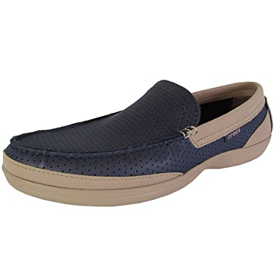 39f6f8d69e6e67 Crocs Mens Wrap ColorLite Perforated Loafer Shoes