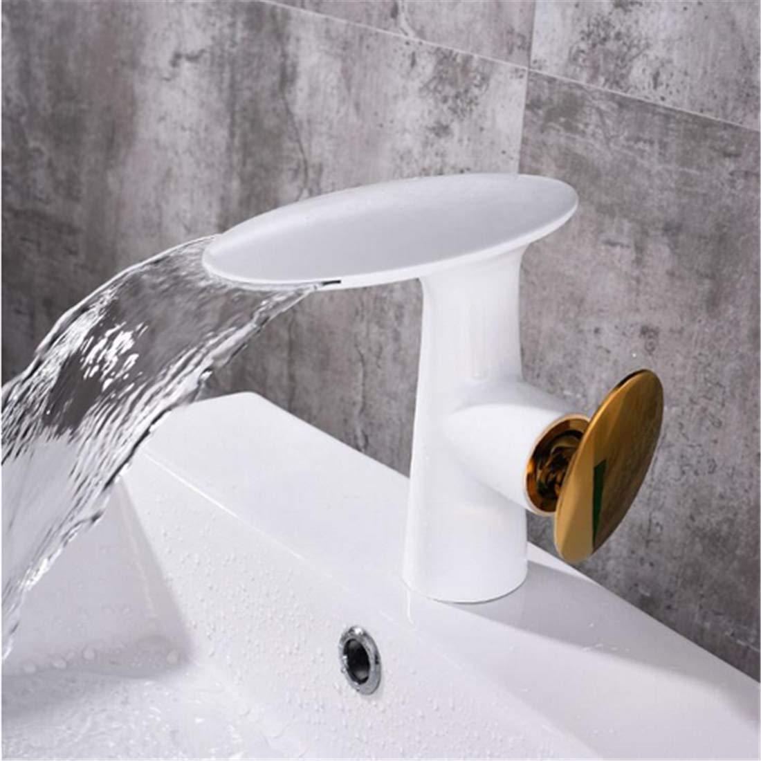 Retrohot & Cold Bad Wasserhahn Schwarz Wasserfall Wasserhahn Waschtischmischer