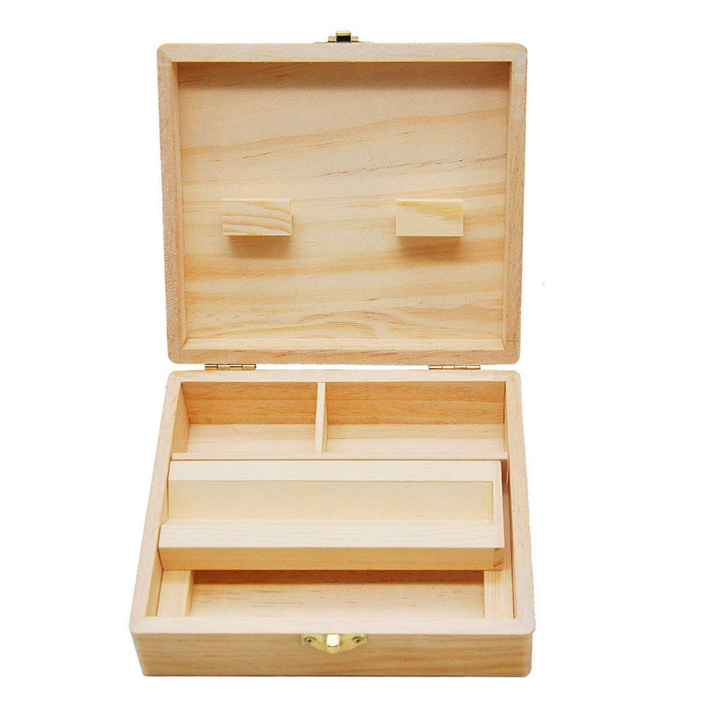 Stash Box Large with Rolling Tray Combo Handmade Decorative for Discrete//Subtle Storage of Smoking Accessories Dartphew Storage Wooden Box
