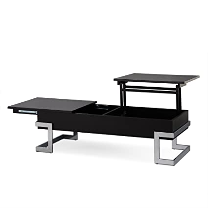 Acme Furniture 81855 Calnan Lift Top Coffee Table, One Size, Black And  Chrome