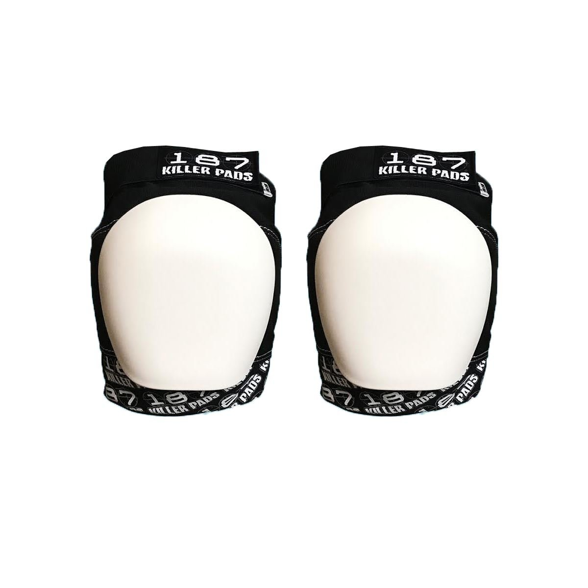187 Killer Pro Knee Pads White Cap - White / Black - Large