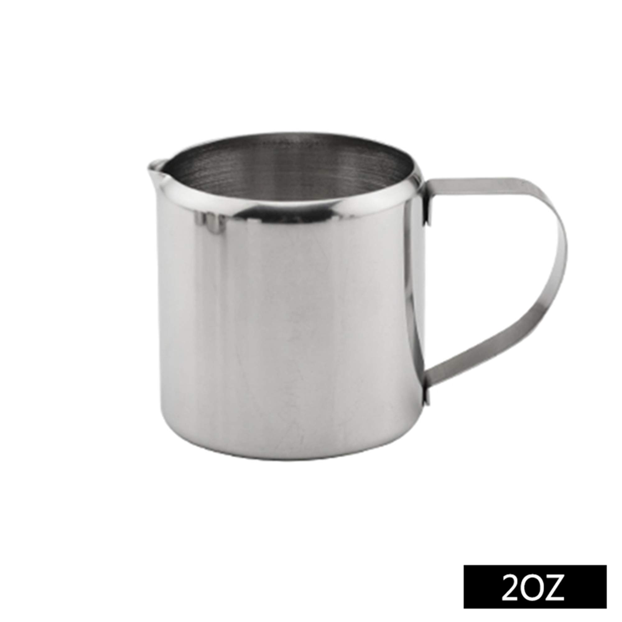 Stainless Steel Milk Frothing Jug Coffee Cream Espresso Coffee Pitcher Cup Latte Art Spout Durable (2oz)