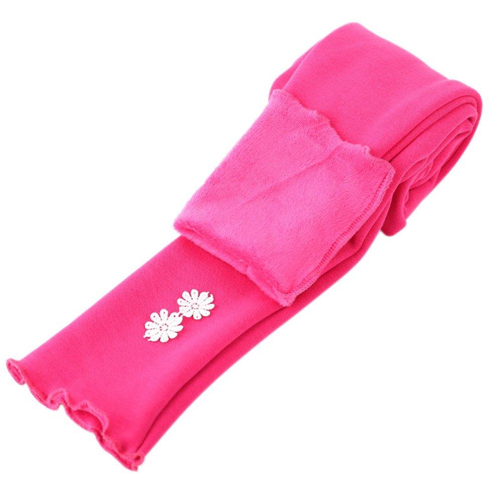 Weixinbuy Little Girl Fleece Lined Legging Sunflower Tight Pants Winter Trousers