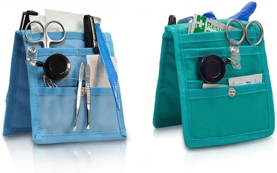 Pack 2 Salvabolsillos enfermera Keens para bata o pijama, Colores: 1 verde y 1 azul, Lote ahorro, Medidas: 14,5 x 12 cm, Elite Bags: Amazon.es: Salud y cuidado personal