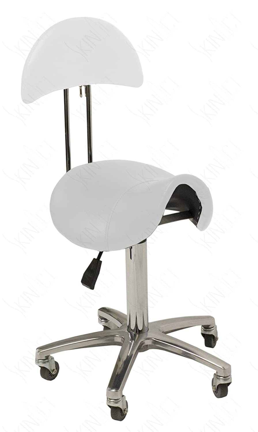 Amazon.com Hydraulic Saddle Stool with Back Salon Stool Spa Equipment Kitchen u0026 Dining  sc 1 st  Amazon.com & Amazon.com: Hydraulic Saddle Stool with Back Salon Stool Spa ... islam-shia.org