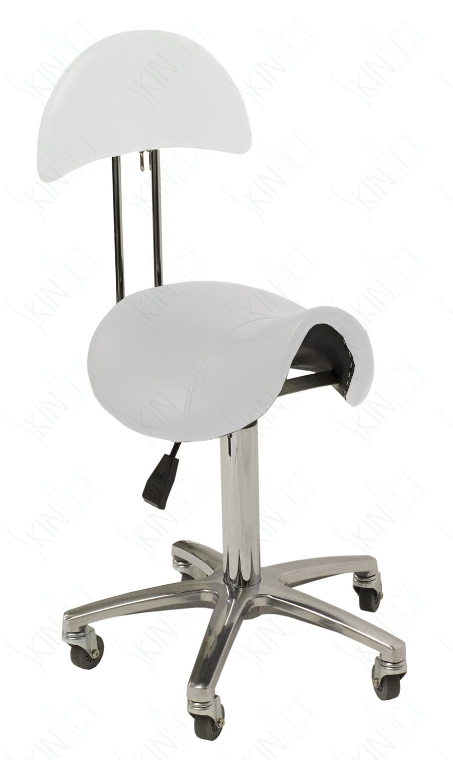 Hydraulic Saddle Stool with Back Salon Stool Spa Equipment
