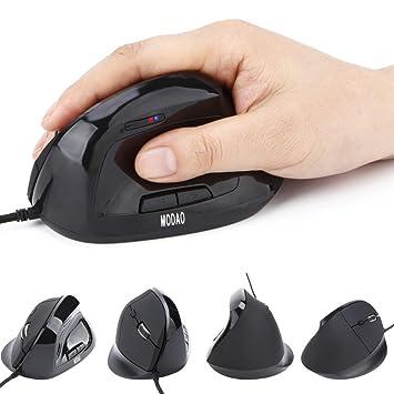 Rcool Nuevo estilo 6 teclas cable de ratón vertical con DPI LED indicador USB para PC