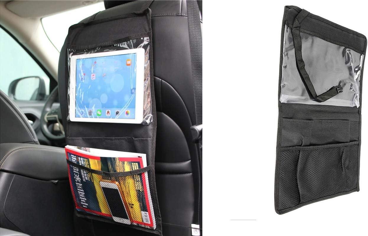 Auto Tasche 30 x 52 cm takestop/® Aufbewahrungstasche f/ür iPad ws1259 Portemonnaie R/ückseite Organizer Netz