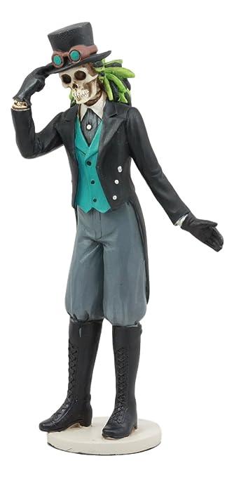 Gothic Skelett Statue Deko Gentleman aus Knochen Steampunk