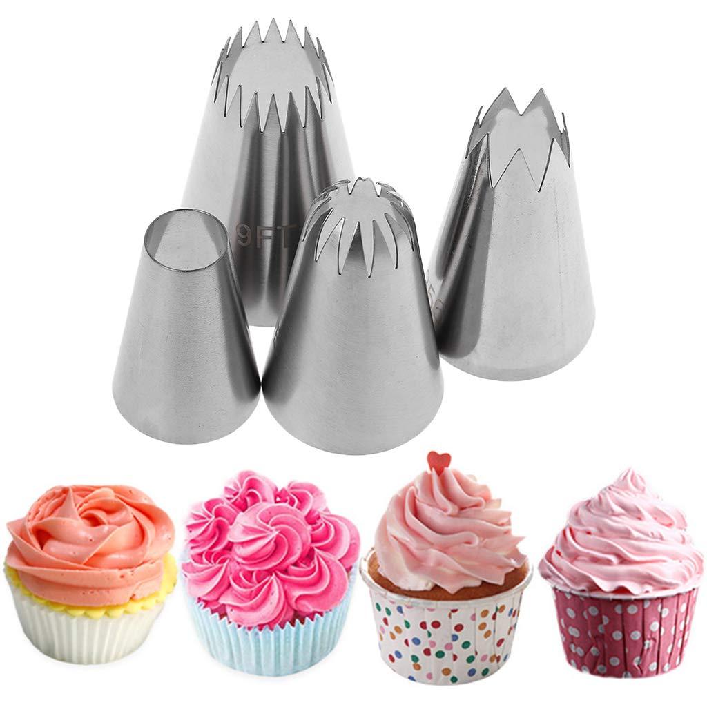 Lunji Lot Douille Patisserie en Acier Inoxydable Poche a Douille Deco Gateau Biscuits Bonbon Cupcakes