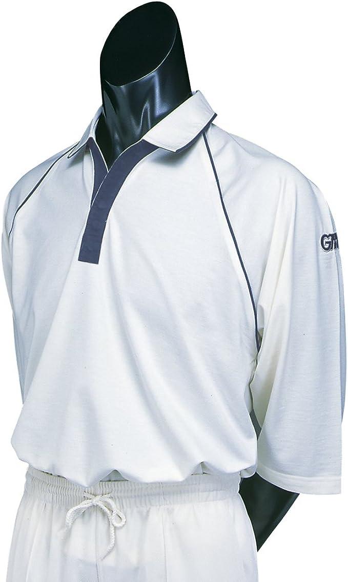 GM Teknik Nsm 3//4 Sleeve Cricket Shirt Light Cream//Green Large Boys