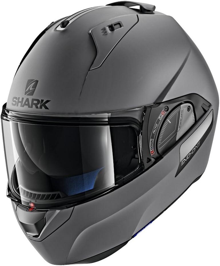 Shark Unisex-Adult Flip-Up Helmet Matte Dark Grey, S - 55-56 cm - 21.7-22