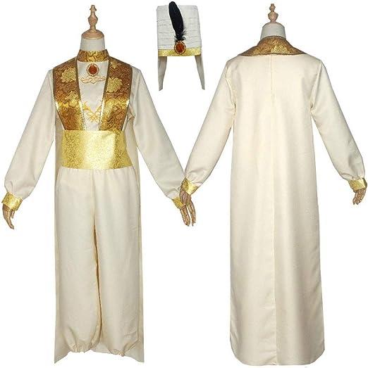 CVDEKH Disfraces de Halloween Cosplay Disfraz Aladdin y la lámpara ...