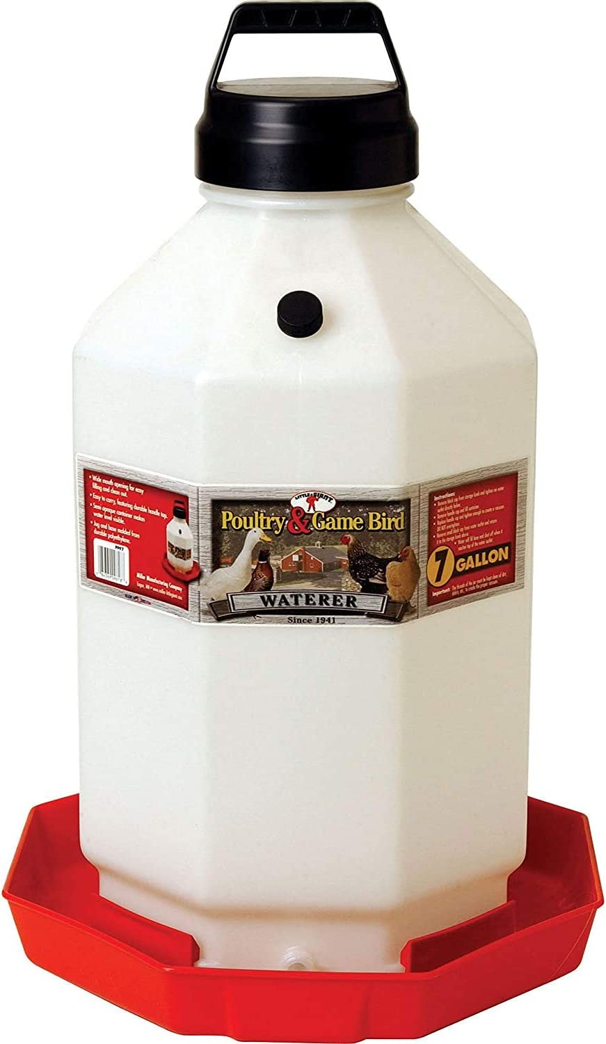 Little Giant PPF7 7 Gallon Capacity Automatic Chicken Poultry Waterer 2 Pack