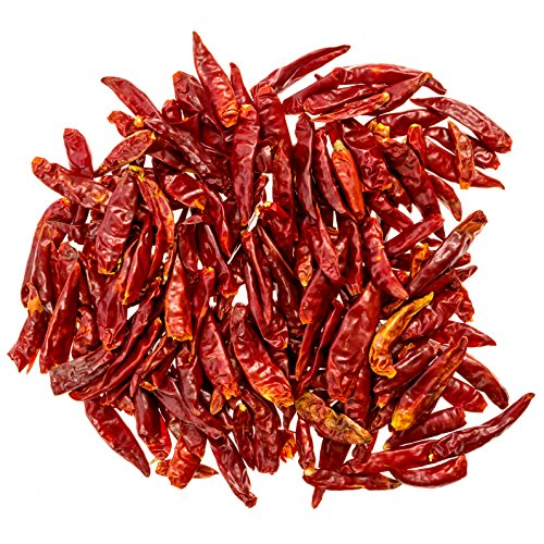Three Squirrels Szechuan Whole Dried Chilies - Chinese Dried Red Chili Peppers - Making Hot Chili Oil & Sichuan Chongqing Hotpot - Premium Quality - 4 Oz