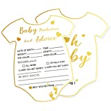50pcs Advice and Prediction Cards for Gender Neutral Baby Shower Games New Mom & Dad Card or Mommy & Daddy to Be New Parent Message Advice Book