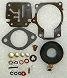 Johnson Evinrude Complete Carburetor Kit with float 25 Hp 1969-95 (2 CYL) WSM 600-31 OEM# 396701
