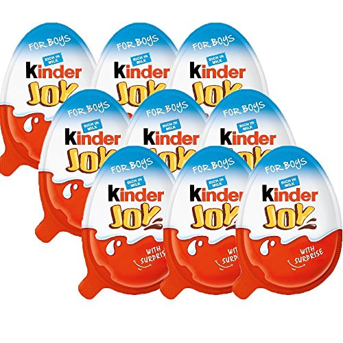(Chocolate Kinder Joy for Boys with Surprise Inside (9-Pack))