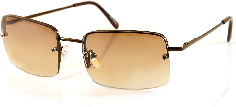 FBL Minimalist Medium Rectangular Sunglasses Clear Eyewear Spring Hinge A173 A174