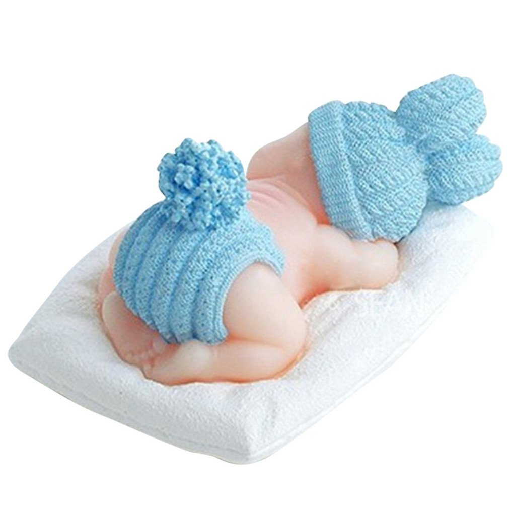 Volar 3d Dormir Bebé Silicona Fondant molde decoración de pasteles: Amazon.es: Hogar