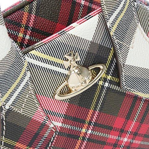 Con Mastercard En Línea Vivienne Westwood Derby rosso tartan tote bag Red Fabric Venta Barata Amplia Gama De 4PS8rlk7KU