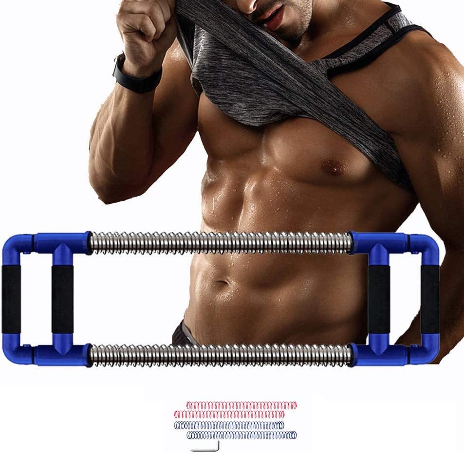 Gbazaar Second Generation Adjustable Pressure Super Push Down Bar-Chest Expander for Home Gyms, Total Upper Body Workout Equipment Exercise Chest, Shoulders