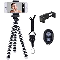 Ibeston Phone Tripod, Ibeston Octopus Tripod for iPhone/Universal Smartphone/Camera Arbitrary Installed with Remote…