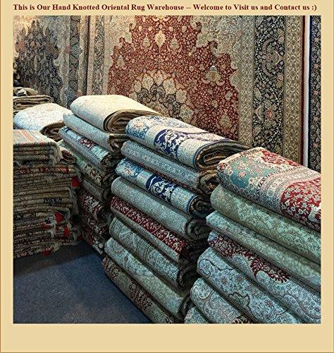 7'x10' Home Handmade Wool Rugs Persian Silk Floral Area