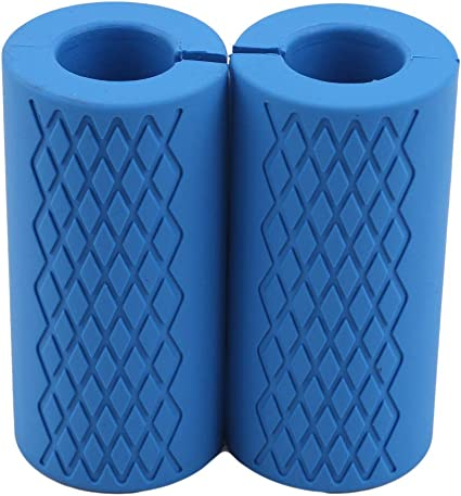 2Pcs Thick Fat Silicone Dumbbell Barbell Grips Home Weight Lifting Wrap Bar
