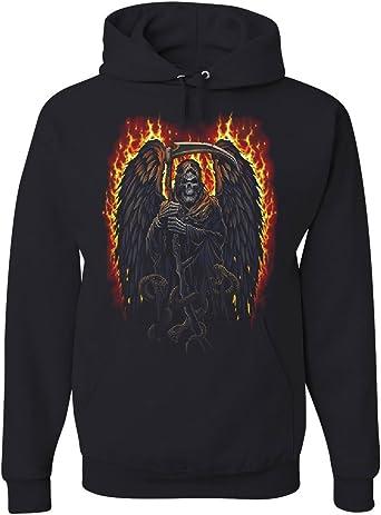 Tee Hunt Blue Skulls Womens Sweatshirt Skull Face Death Dead Reaper Hell Evil Demon