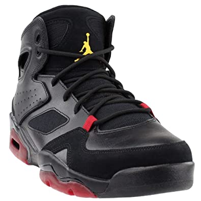 low priced b55e3 bdf9f Jordan Mens FLTCLB 91 Black Dandelion Varsity RED Size 7.5