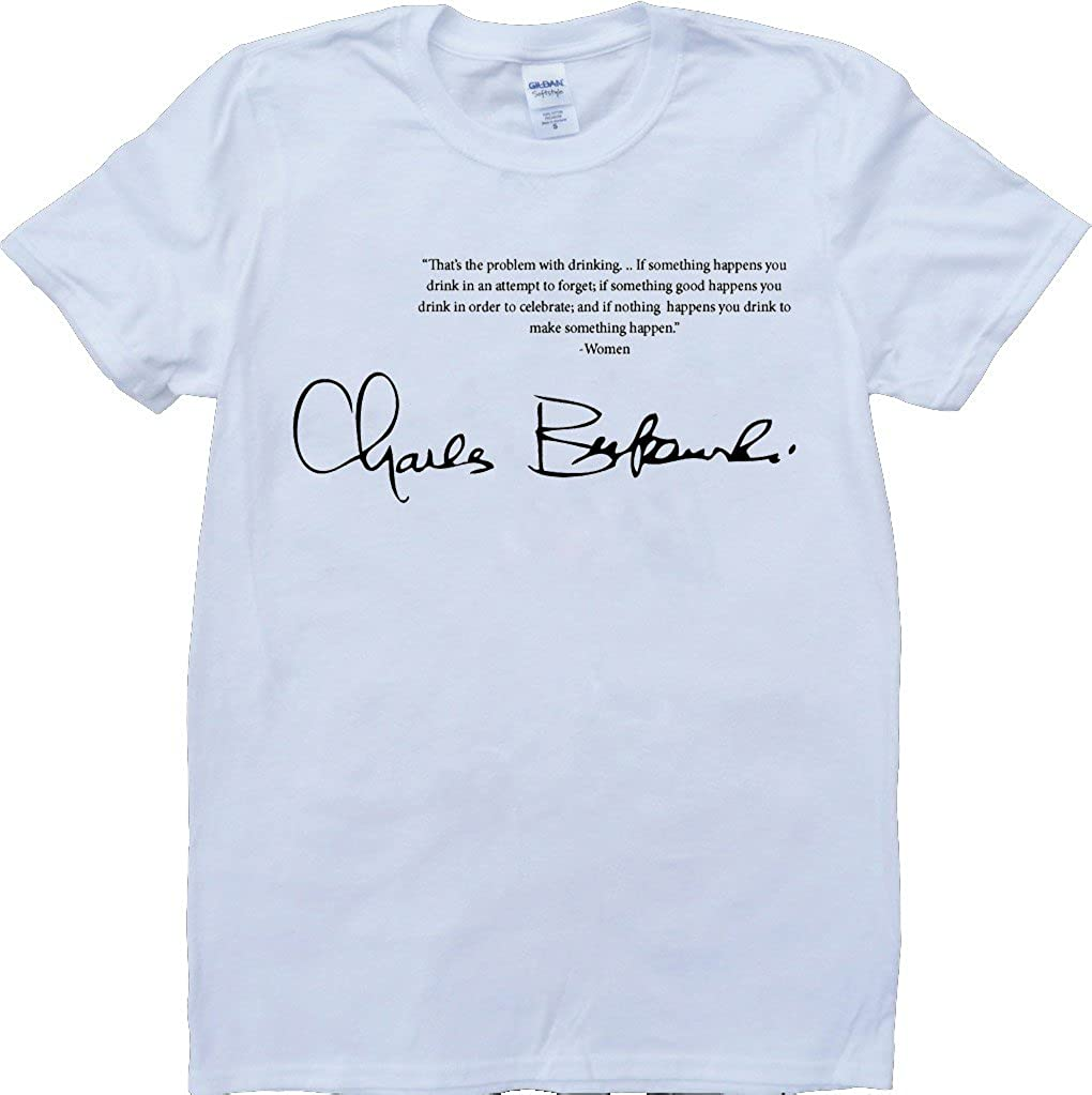 Amazon Brain Dump Tees Bukowski Quote Short Sleeve Crew Neck