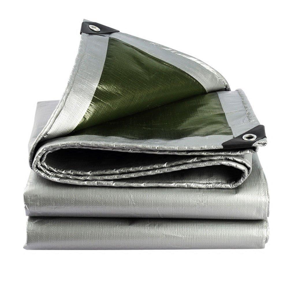 vert+argent 6X7M SXY888 Tapis imperméable de Parasol d'abri de Camion de Prougeection Solaire de bÂche légère et Tapis de Sol pour la bÂche de Toile de Tente de Camping extérieure