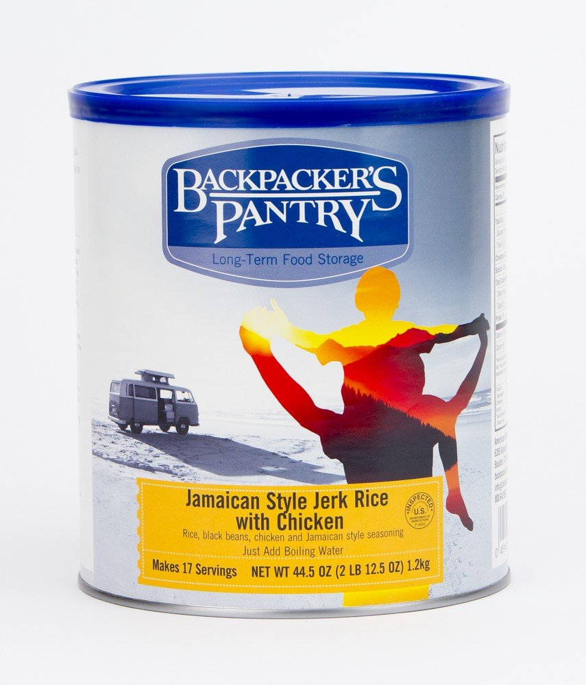 Backpacker's Pantry Jamaican Jerk Rice with Chicken, 44.5 Ounces, # 10 Can