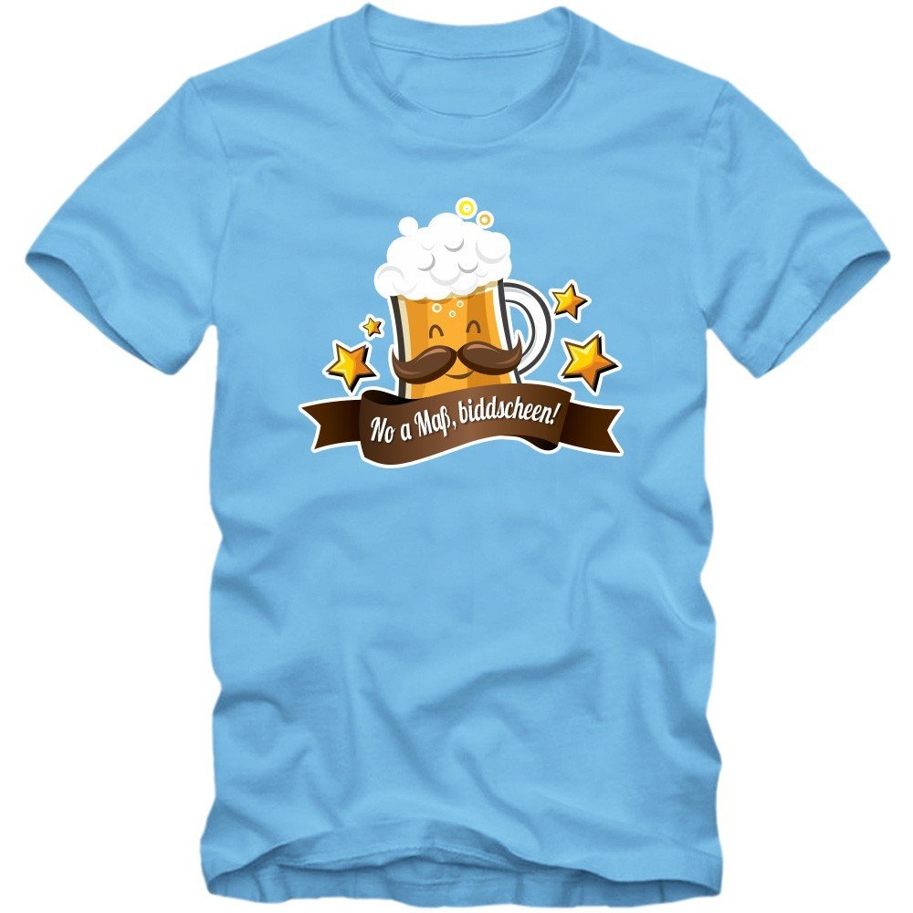 Oktoberfest 'No A Mass' T-Shirt | Herren | Wiesn | Bayern | Volksfest |  Feiern | Spruch-Shirt | Bier: Amazon.de: Bekleidung