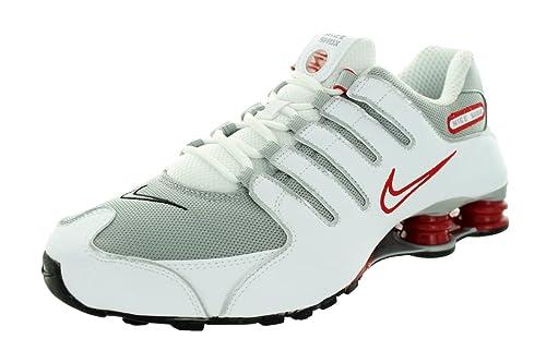 cheap for discount 881eb a320d Nike Shox NZ, Scarpe Sportive, Uomo, Multicolore (WhiteMetallic Silver-