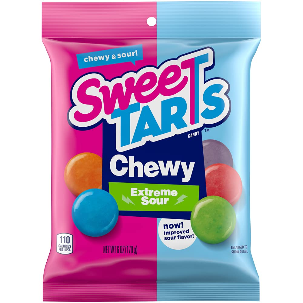 SweeTARTS Chewy Sours Share Pack, 6 Oz, Pack of 12