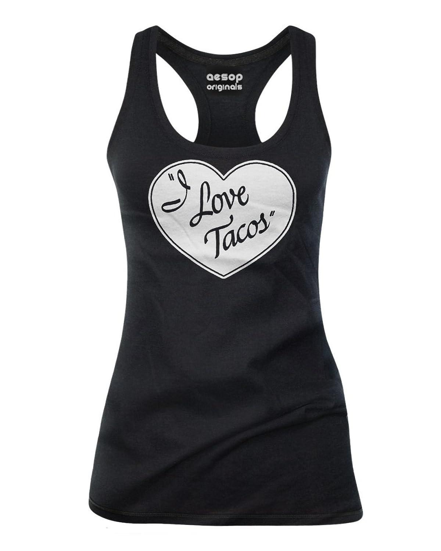 Aesop Originals Women's I Love Tacos Tank Top