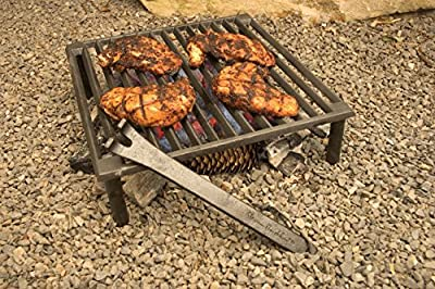 Steven Raichlen Best of Barbecue Cast Iron Tuscan BBQ Grill – 14 by 14 inches – SR8024
