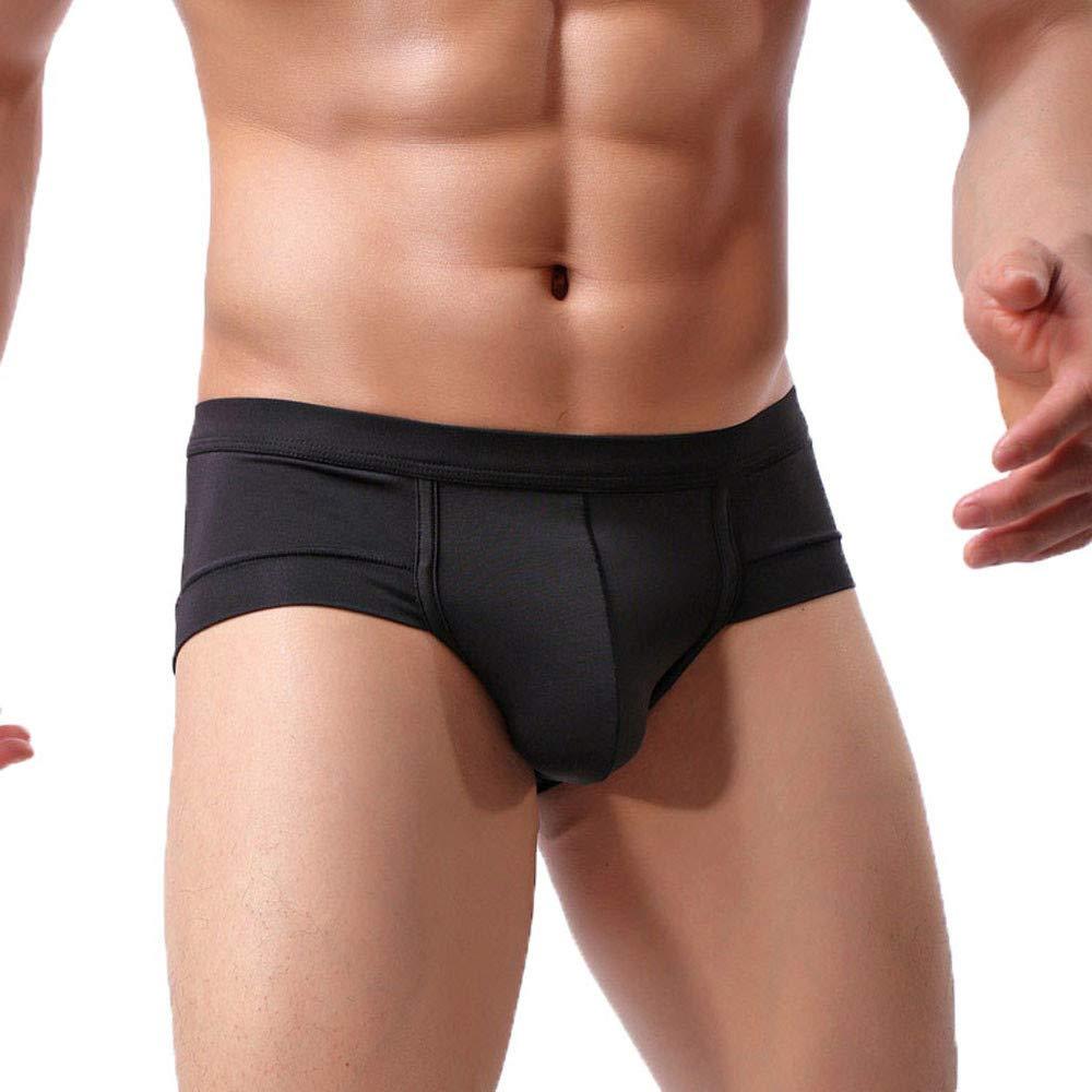 Men's Underwear, Sexy Boxer Briefs Shorts Underwear Panties Underpants Knickers Transparent Trunks Black