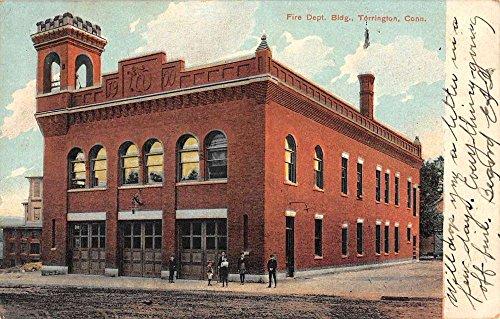 Torrington Connecticut Fire Department Building Antique Postcard ()