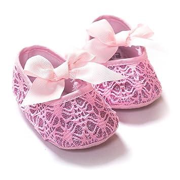 Amazon.com: dde bebé niña mezcla de algodón sólido zapatos ...