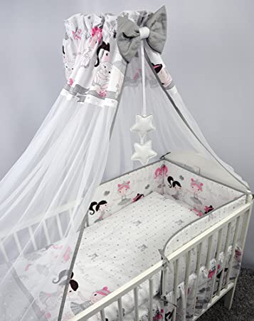 8 Pcs Baby Bettwäsche Set Mit Chiffon Himmel Halterung Regular